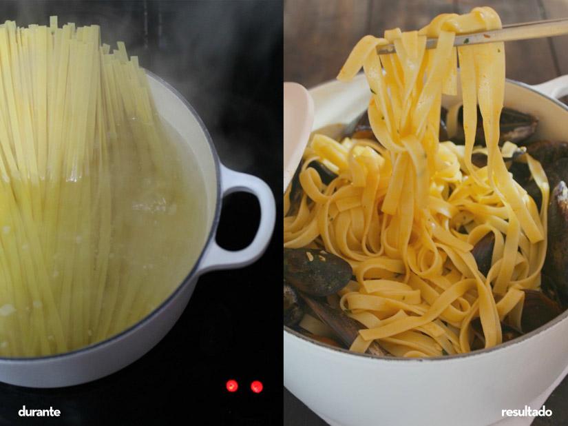 Receta de tagliatelle a la marinera cocinada en cocotte - Cocinar en cocotte ...