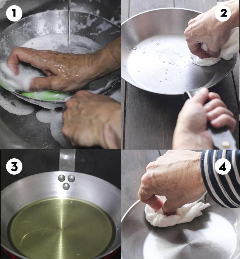 Así se lava una sartén de hierro correctamente