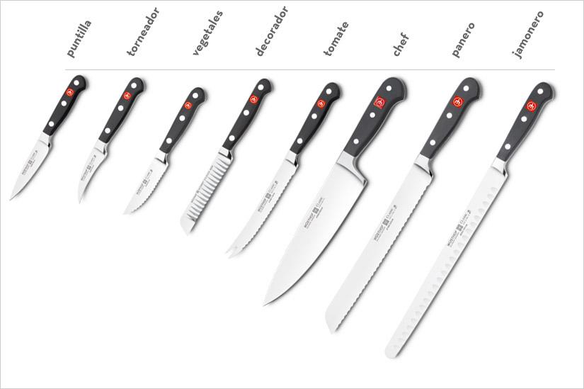 Cuchillos wusthof alemanes series caracter sticas y precios for Cuchillos cocina profesionales