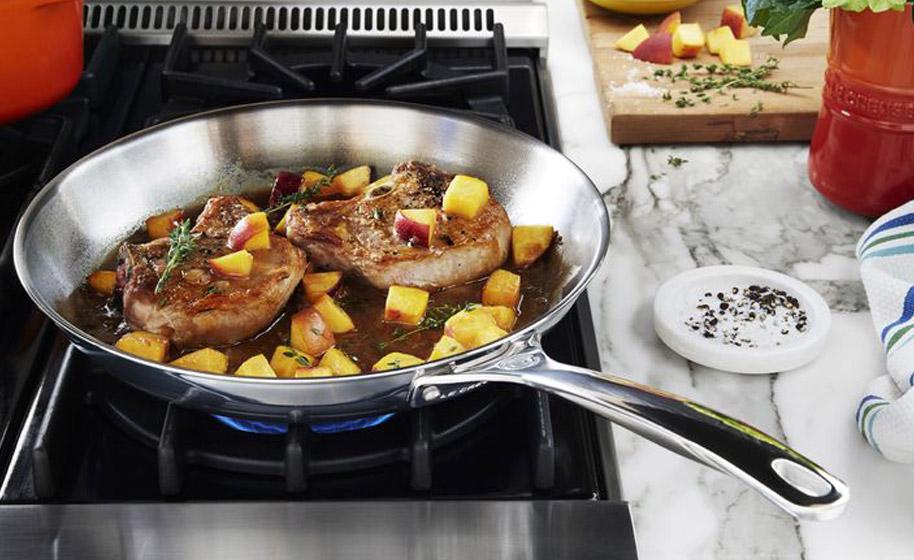Sartenes de acero inoxidable cu l comprar lecuiners for Sartenes profesionales cocina
