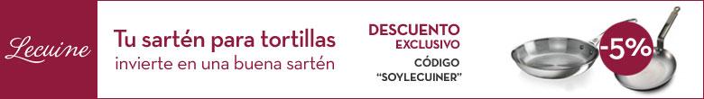Banner tortillas lecuiners - Sartenes para tortilla ...
