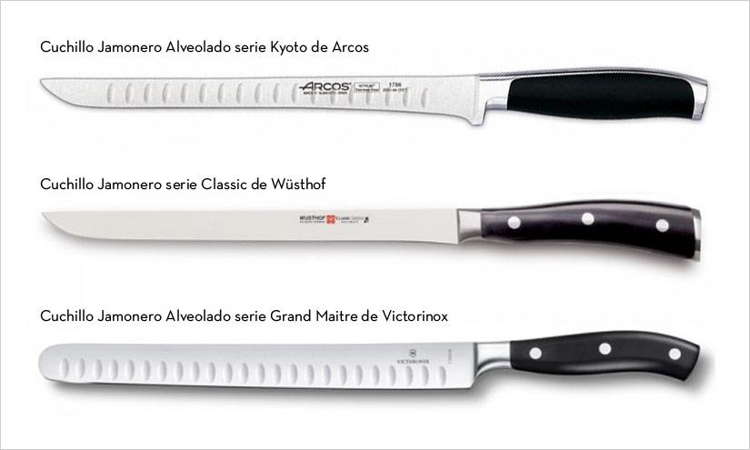 Cuchillo para cortar jam n los mejores cuchillos jamoneros for Cuchillos de mesa para carne