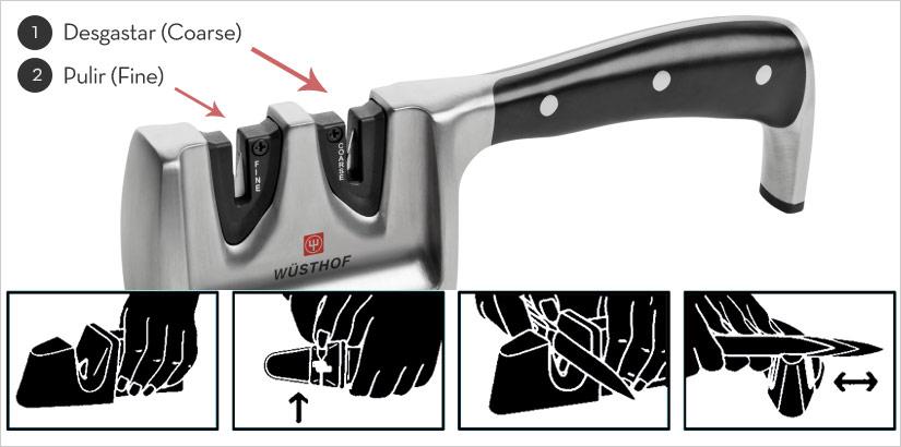 como afilar cuchillos en casa con afiladores manuales
