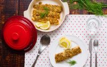 Salmón al horno con miel y mostaza
