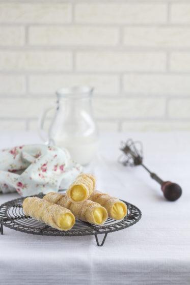 Unas cañas de crema en la cocina de Uno de dos