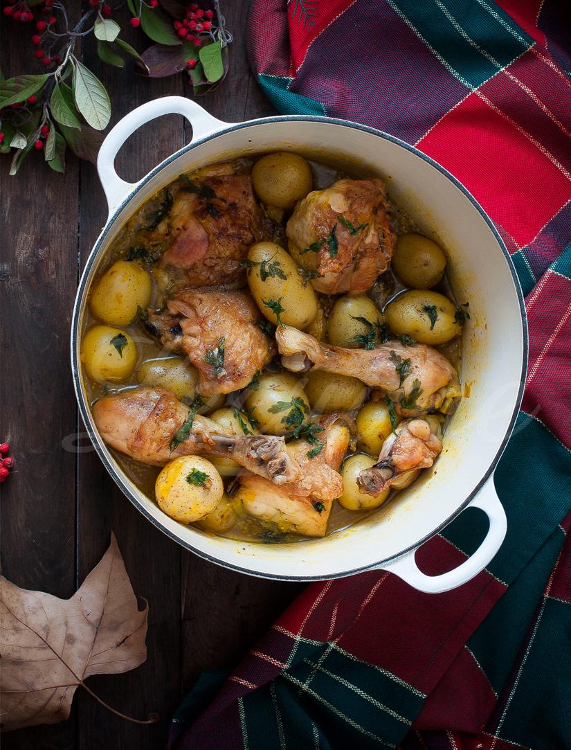 Así queda el plato terminado presentado en la Cocotte