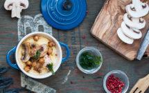 Receta de polenta con champiñones