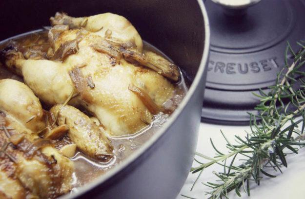 Pollo en cocotte receta