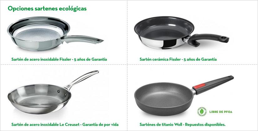 Sartenes ecol gicas qu opciones existen cu l comprar for Sartenes profesionales cocina