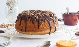 Bundt cake de chocolate y pipas