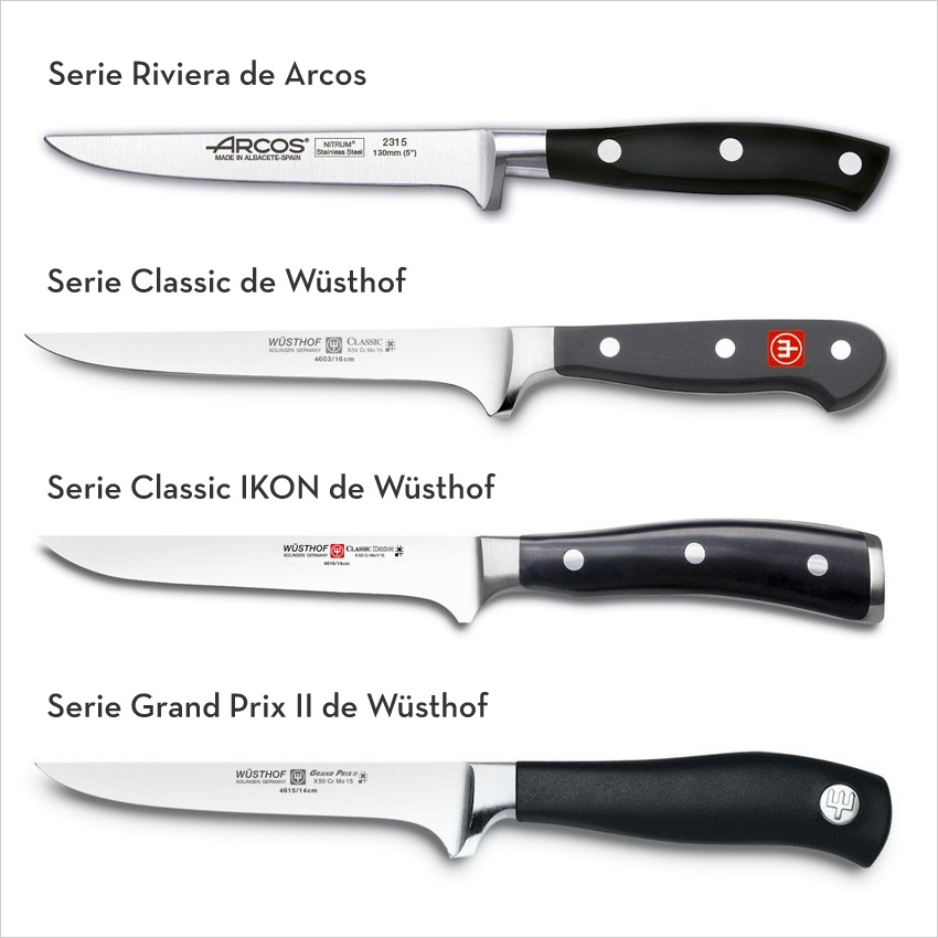 Cuchillo deshuesador al detalle lecuiners for Clases de cuchillos de mesa