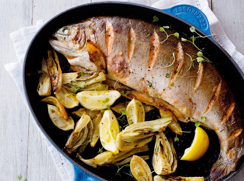 Sartenes para pescado de hierro fundido Le Creuset