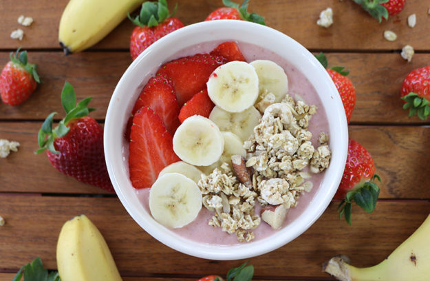 Smoothie bowl fresas
