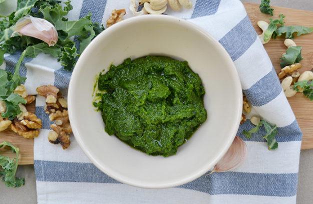 Pesto de Kale receta paso a paso