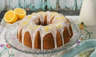 Bundt cake triple limón