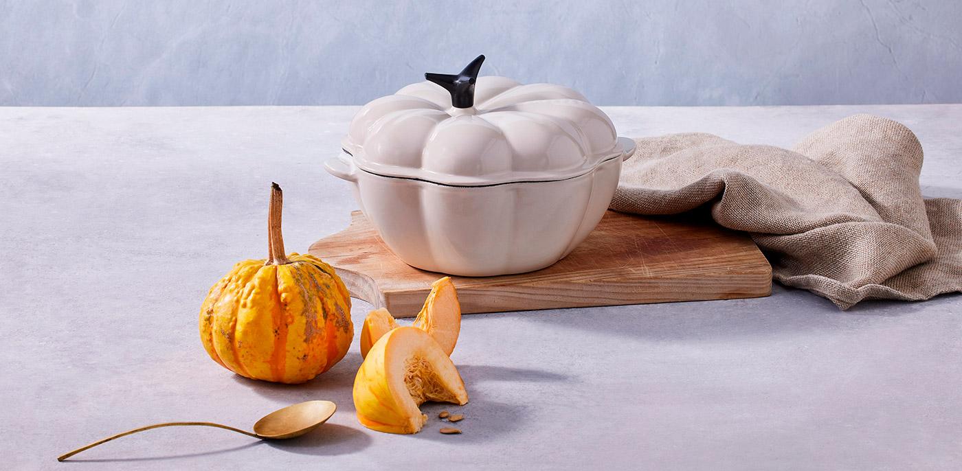 Cocotte calabaza Le Creuset color merengue