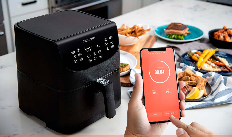 Freidora de aire sin aceite Cosori con Wifi