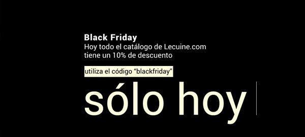 Black Friday en Lecuine, -10% descuento.