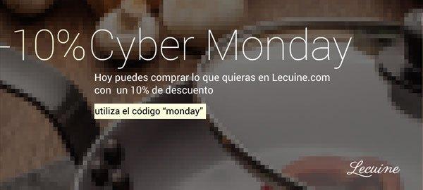 Cybermonday en Lecuine, -10% descuento.