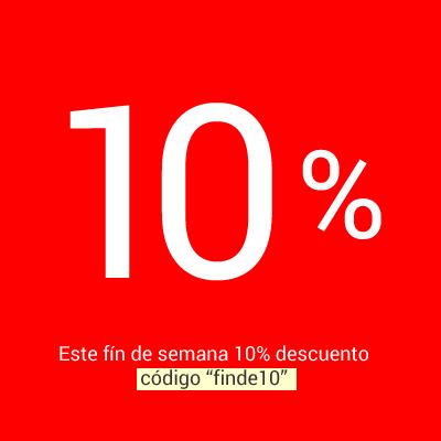 Finde 10% descuento