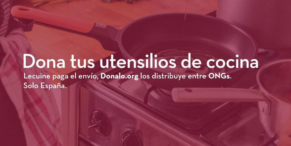 Dona tus utensilios de cocina.