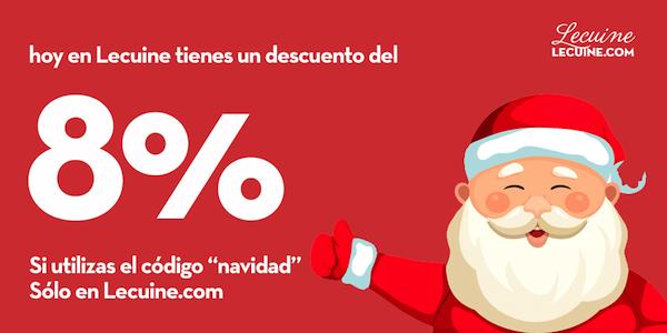 Pre-navidad 8% de descuento.